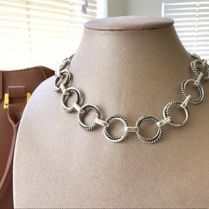 """Jewelry - Silver Rope Ring """"O"""" Link Necklace"""